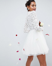 ASOS | Платье мини из тюля ASOS EDITION Wedding - Кремовый | Clouty