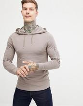 ASOS | Бежевый обтягивающий худи с карманом MA1 от ASOS DESIGN - Бежевый | Clouty