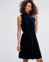 Vila | Платье с высокой горловиной Vila - Темно-синий | Clouty