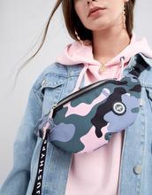Hype | Сумка-кошелек на пояс с камуфляжным принтом Hype - Розовый | Clouty