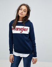 Wrangler | Свитшот с логотипом Wrangler - Темно-синий | Clouty