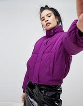 Pull & Bear   Укороченная дутая куртка Pull&Bear - Фиолетовый   Clouty