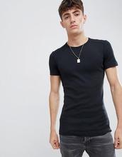 Esprit | Обтягивающая футболка в рубчик из органического хлопка Esprit - Черный | Clouty