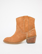 Glamorous | Ботинки из искусственной замши на каблуке в стиле вестерн Glamorous - Рыжий | Clouty