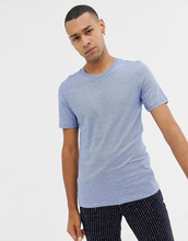 Selected Homme   Меланжевая футболка Selected Homme - Синий   Clouty