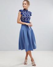ASOS | Кружевное платье для выпускного ASOS - Синий | Clouty