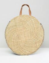 South Beach | Круглая соломенная сумка-тоут South Beach - Бежевый | Clouty