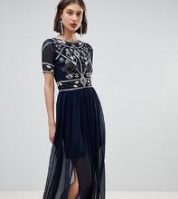 Frock And Frill | Платье макси с декорированным лифом Frock And Frill - Темно-синий | Clouty