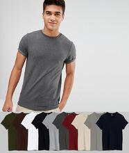 ASOS   10 облегающих футболок с отворотами на рукавах ASOS DESIGN - СКИДКА   Clouty