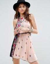 Free People | Платье-комбинация с принтом Free People - Черный | Clouty