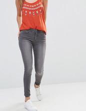 Only | Облегающие джинсы с классической талией Only Royal - Серый | Clouty