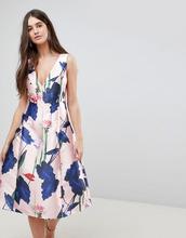 Ax Paris | Платье для выпускного с V-образным вырезом и цветочным принтом Ax Paris - Розовый | Clouty