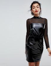 Club L | Блестящее платье мини с высоким воротом Club L - Черный | Clouty