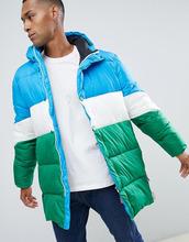 Hunter | Пальто-пуховик колор блок Hunter Original - Синий | Clouty