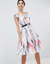 Little Mistress | Короткое приталенное платье для выпускного с принтом Little Mistress - Мульти | Clouty