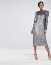 ASOS | Платье миди с переливающимися пайетками ASOS RED CARPET - Фиолетовый | Clouty