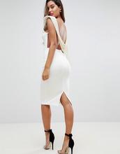 ASOS | Платье миди с глубоким вырезом и искусственным жемчугом на спине ASOS | Clouty