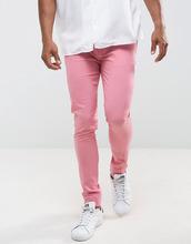 ASOS   Розовые строгие супероблегающие брюки ASOS - Розовый   Clouty