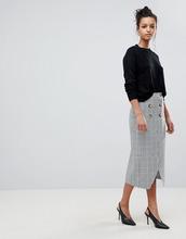 ASOS | Двубортная юбка-карандаш в клетку ASOS DESIGN - Мульти | Clouty