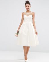 ASOS | Платье миди для выпускного с вырезом сердечком ASOS BRIDAL - Белый | Clouty