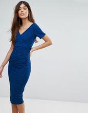 Vesper   Кружевное платье миди с короткими рукавами Vesper - Синий   Clouty
