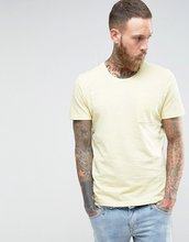 Selected Homme | Меланжевая трикотажная футболка с карманом Selected Homme - Желтый | Clouty