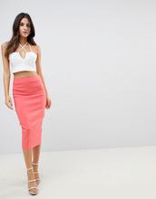 ASOS | Длинная юбка-карандаш ASOS DESIGN - Розовый | Clouty