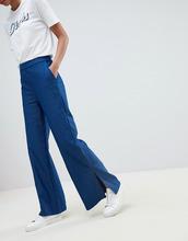 Vila | Широкие брюки в полоску Vila - Темно-синий | Clouty