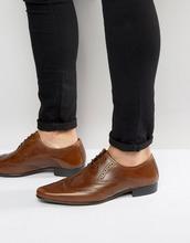 ASOS | Светло-коричневые оксфордские туфли-броги из кожи ASOS DESIGN - Рыжий | Clouty