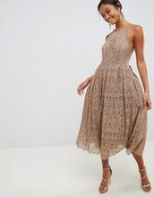 ASOS | Кружевное платье миди для выпускного с фигурными краями ASOS DESIGN | Clouty