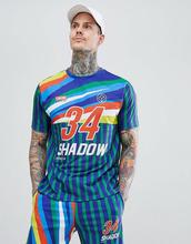 ASOS | Свободная футболка ретро с принтом ASOS DESIGN - Мульти | Clouty