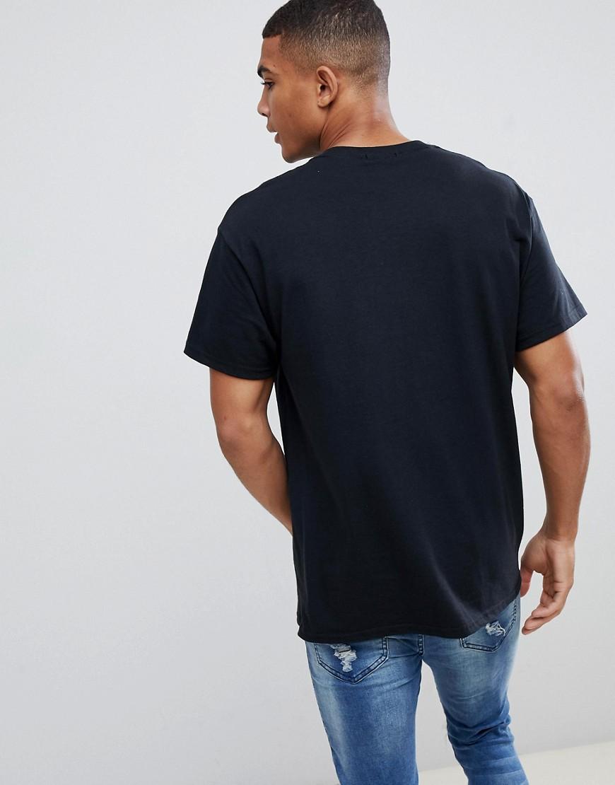 New Look | Черная футболка с надписью Miami New Look - Черный | Clouty
