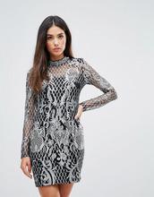 Club L | Платье с вышивкой и отделкой пайетками Club L - Золотой | Clouty