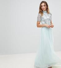 Frock And Frill | Декорированное платье макси Frock And Frill Premium - Синий | Clouty