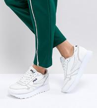 FILA | Белые кроссовки на платформе Fila - Белый | Clouty