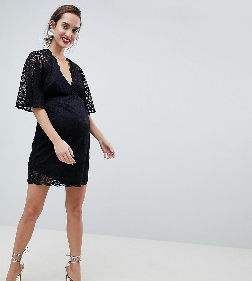 6eb02980edf3 ASOS   Мульти Кружевное платье мини с глубоким вырезом ASOS DESIGN  Maternity   Clouty ...