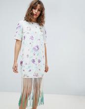 ASOS | Платье миди с вышивкой и бахромой тай-дай ASOS DESIGN - Мульти | Clouty