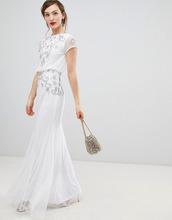 Frock And Frill | Шифоновое платье макси с короткими рукавами и отделкой Frock & Frill | Clouty