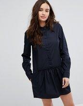Vila | Платье с оборкой на подоле Vila - Темно-синий | Clouty