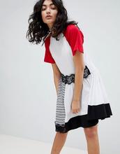 ASOS | Платье с полосками и кружевом ASOS DESIGN - Мульти | Clouty