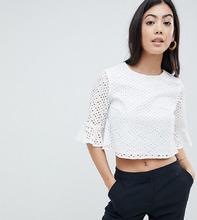 Fashion Union | Топ с вышивкой ришелье Fashion Union Petite - Белый | Clouty