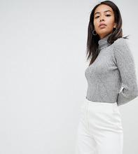Fashion Union | Фактурный джемпер с высоким воротом Fashion Union Tall - Серый | Clouty