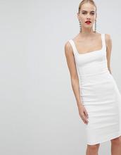 Vesper | Белое платье-футляр с квадратным вырезом Vesper - Белый | Clouty