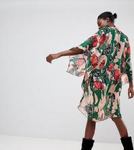 Anna Sui | Длинное кимоно с цветами Anna Sui - Мульти | Clouty