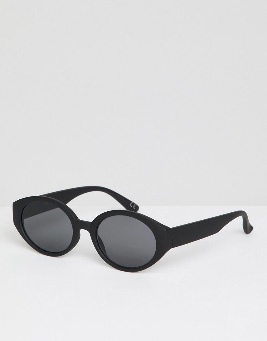 5f53be3d7e74 ASOS   Черный Черные матовые солнцезащитные очки с дымчатыми стеклами ASOS  DESIGN   Clouty ...
