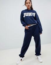 Juicy Couture | Спортивные брюки с логотипом и манжетами Juicy By Juicy Couture - Темно-синий | Clouty
