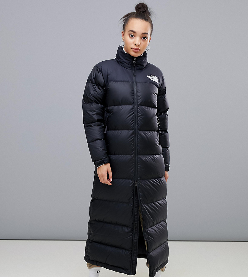 The North Face | Черное длинное пальто The North Face Womens Nuptse - Черный | Clouty