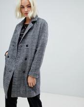 Blend She | Строгое пальто в клетку с добавлением шерсти Blend She Sanna - Серый | Clouty