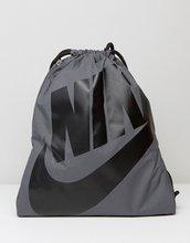 NIKE | Серый рюкзак с завязкой Nike Heritage BA5351-009 - Серый | Clouty