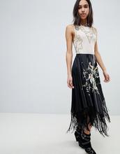 ASOS | Платье миди с вышивкой и бахромой ASOS EDITION - Мульти | Clouty